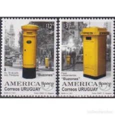 Sellos: ⚡ DISCOUNT URUGUAY 2011 AMERICA UPAEP - MAIL BOXES MNH - MAILBOXES. Lote 274788123