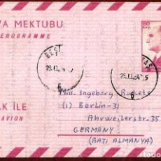 Sellos: AEROGRAMA ANTIGUO DE TURKIA. Lote 277189798