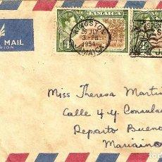 Sellos: CARTA ANTIGUA DE JAMAICA. Lote 277192488