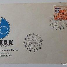 Sellos: SOBRE ANKARA (TURQUÍA 5.5.1959) - X ANIVERSARIO CONCILIO EUROPA. Lote 280546058