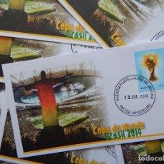 Sellos: 10 SOBRES IGUALES COPA DEL MUNDO - COPA DO MUNDO BRASIL 2014 / AGENCIA FILATELICA RIO DE JANEIRO. Lote 286979778