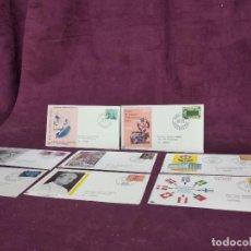 Francobolli: SUIZA, 8 SOBRES PRIMER DÍA DE EMISIÓN, 1959, 67, 70 Y 71. Lote 287718938