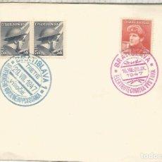 Sellos: CHECOSLOVAQUIA BRATISLAVA 1947 EXPOSICION ELECTROTECNICA ELECTRICIDAD ELECTRICITY. Lote 288139048