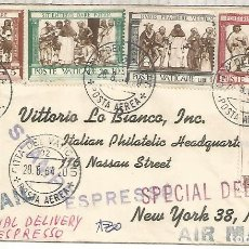 Sellos: VATICANO A USA URGENTE SPECIAL DELIVERY RELIGION 1964. Lote 288139268