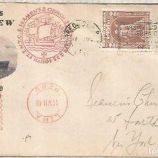 Sellos: PERU CC MAIDEN VOYAGE 1946 SHIP SANTA BARBARA CON FRANQUEO MECANICO METER. Lote 288139783