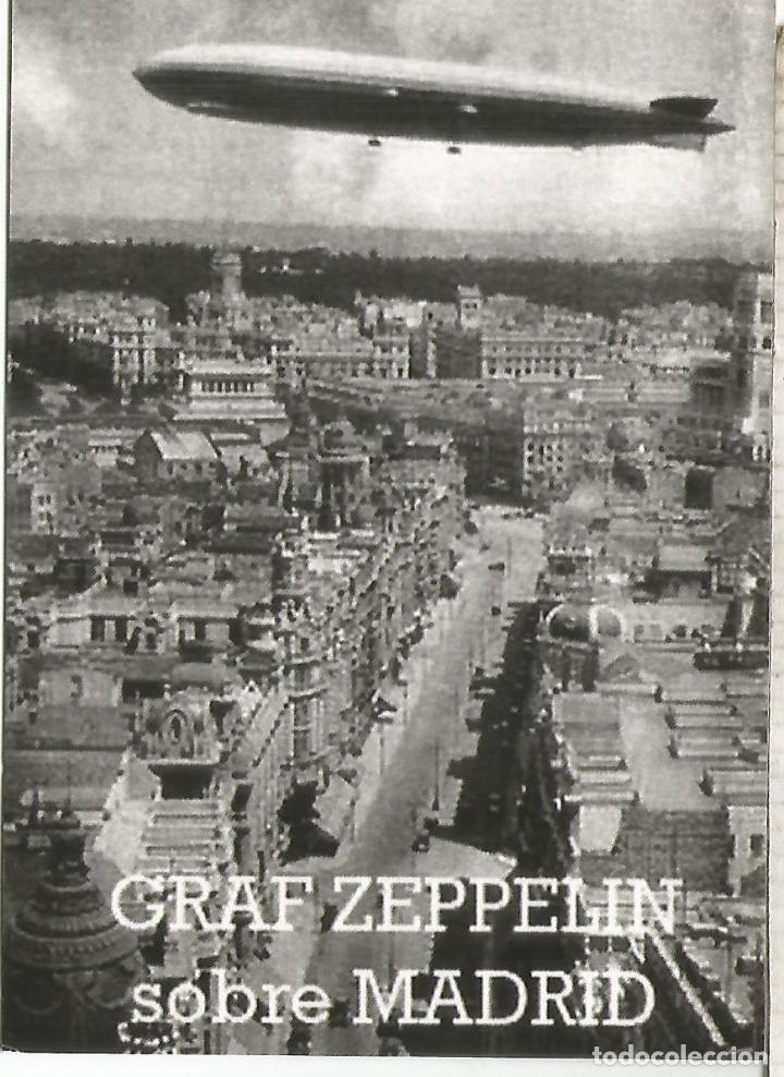 SUECIA ENTERO POSTAL INICIATIVA PRIVADA STATIONERY CARD GRAF ZEPPELIN SOBRE MADRID (Sellos - Historia Postal - Sellos otros paises)