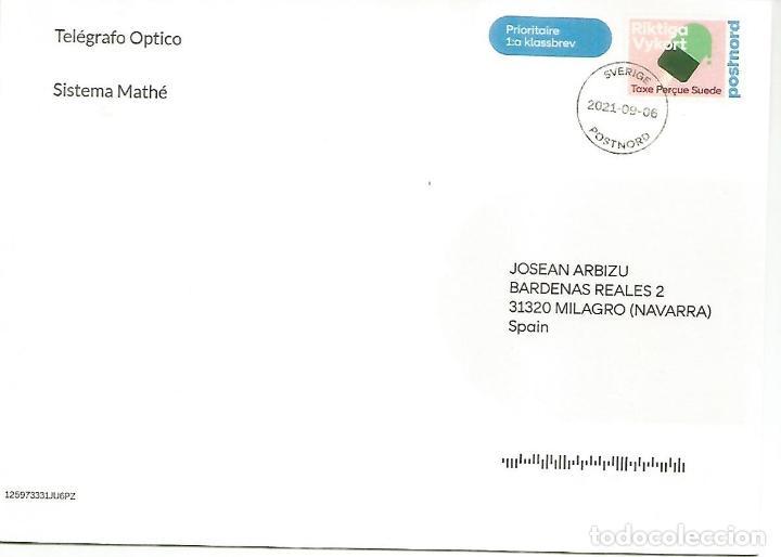 Sellos: SUECIA ENTERO POSTAL INICIATIVA PRIVADA STATIONERY TELEGRAFO OPTICO MATHE TELECOM ARGANDA - Foto 2 - 288144718