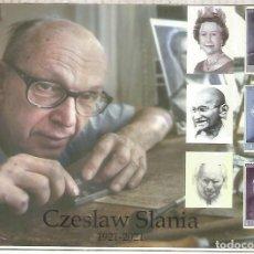 Sellos: SUECIA ENTERO POSTAL INICIATIVA PRIVADA STATIONERY CZESLAW SLANIA CENTENARY ENGRAVING. Lote 288145263