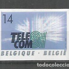 Sellos: BELGICA SIN DENTAR IMPERFORATE TELECOM 91 TELECOMUNICACIONES. Lote 288700773