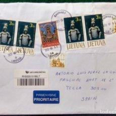 Sellos: SOBRE CIRCULADO CON SELLOS Y MATASELLO - LITUANIA -. Lote 289847873