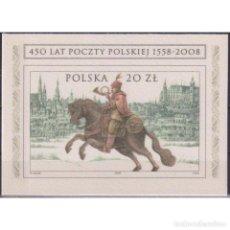 Sellos: ⚡ DISCOUNT POLAND 2008 THE 450TH ANNIVERSARY OF POLISH POST MNH - HORSES, MAIL HISTORY. Lote 289986808
