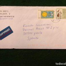 Sellos: SOBRE CIRCULADO CON SELLOS Y MATASELLO - ALEMANIA - AVES - EUROPA. Lote 293879308