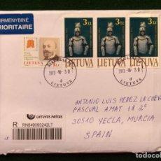Sellos: SOBRE CIRCULADO CON SELLOS Y MATASELLO - LITUANIA. Lote 293882303