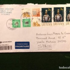 Sellos: SOBRE CIRCULADO CON SELLOS Y MATASELLO - LITUANIA. Lote 293882858