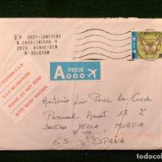 Sellos: SOBRE CIRCULADO CON SELLOS Y MATASELLO - BELGICA. Lote 293885123