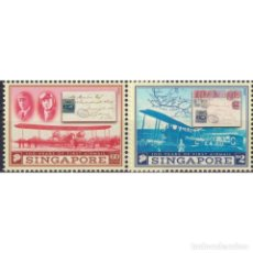 Sellos: ⚡ DISCOUNT SINGAPORE 2019 THE 100TH ANNIVERSARY OF THE FIRST AIRMAIL MNH - STAMPS ON STAMPS,. Lote 295963663