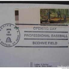 Sellos: USA BEEHIVE 1983 BASEBALL BEISBOL CANCEL COVER. Lote 297231683