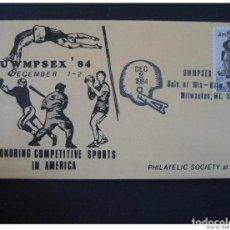 Sellos: USA MILWAUKEE 1984 BASEBALL BEISBOL FOOTBALL ATHLETICS BASKET BASKETBALL CANCEL. Lote 297231698