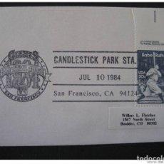 Sellos: USA SAN FRANCISCO 1984 GIANTS ALL STAR BASEBALL BEISBOL CANCEL COVER. Lote 297231703