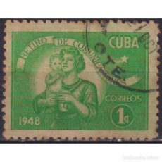 Sellos: ⚡ DISCOUNT CUBA 1948 POSTAL EMPLOYEES RETIREMENT FUND U - MAIL HISTORY. Lote 297349563