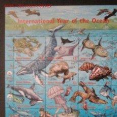 Sellos: FAUNA. AÑO INTERNACIONAL DEL OCEANO. ANIMALES MARINOS. Lote 24557444