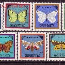 Sellos: MONGOLIA 1428/34*** - AÑO 1986 - FAUNA - MARIPOSAS . Lote 21950838