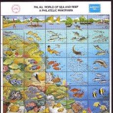 Sellos: PALAU 92/131*** - AÑO 1986 - FAUNA - ANIMALES DE LOS ARRECIFES - PECES. Lote 26266648