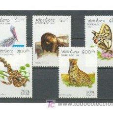 Sellos: LAOS 1996 - FAUNA VARIADA - YVERT Nº 1212-1216**. Lote 25104987