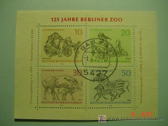 464 HB HOJA BLOQUE ALEMANIA GERMANY - ANIMAL ANIMALES ZOO BERLIN - COSAS&CURIOSAS (Sellos - Temáticas - Fauna)