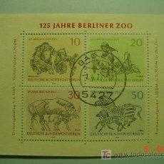 Sellos: 464 HB HOJA BLOQUE ALEMANIA GERMANY - ANIMAL ANIMALES ZOO BERLIN - COSAS&CURIOSAS. Lote 5366561