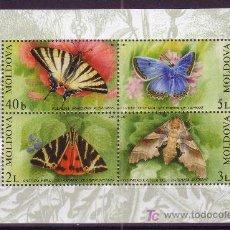 Sellos: MOLDAVIA HB 30*** - AÑO 2003 - FAUNA - MARIPOSAS . Lote 114416512