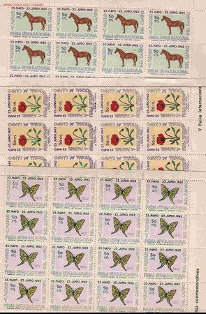 PLIEGO DE 48 SERIES DE FAUNA Y FLORA (Sellos - Temáticas - Fauna)