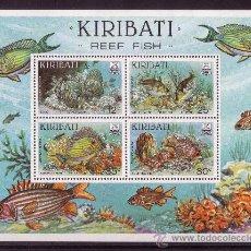 Sellos: KIRIBATI HB 7*** AÑO 1985 - FAUNA MARINA - PECES DE LOS ARRECIFES DE CORAL. Lote 21683439