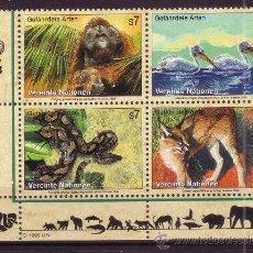 Sellos: NACIONES UNIDAS VIENA 307/10*** - AÑO 1999 - FAUNA - AVES - ANIMALES EN PELIGRO DE EXTINCION. Lote 22945408