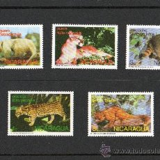 Sellos: NICARAGUA AÑO 1974 YV*** ANIMALES DE LA SELVA - FAUNA - MAMÍFEROS - NATURALEZA. Lote 12481084