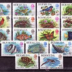 Sellos: BERMUDA 353/69*** - AÑO 1978 - FAUNA - AVES - PECES - REPTILES - MARIPOSAS. Lote 25421997