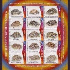 Sellos: ZIMBABWE BENEFICENCIA ** - AÑO 2003 - PRO TUBERCULOSOS - FAUNA - TORTUGAS DE AFRICA DEL SUR. Lote 22651606