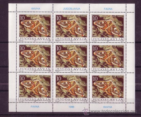 YUGOSLAVIA 2048/51 HB*** - AÑO 1986 - FAUNA - MARIPOSAS (Sellos - Temáticas - Fauna)