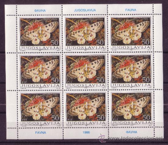 Sellos: YUGOSLAVIA 2048/51 HB*** - AÑO 1986 - FAUNA - MARIPOSAS - Foto 3 - 21385631