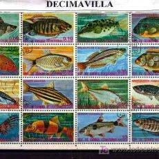 Briefmarken - FAUNA, GUINEA ECUATORIAL, PECES, L154, HOJA-BLOQUE USADA - 18269757