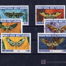 Francobolli: MARIPOSAS SERIE DE NICARAGUA PRECANCELADOS. Lote 20221041
