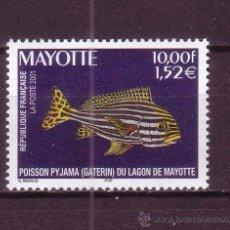 Sellos: MAYOTTE 102*** - AÑO 2001 - FAUNA MARINA - PECES DE LA LAGUNA DE MAYOTTE. Lote 21246274