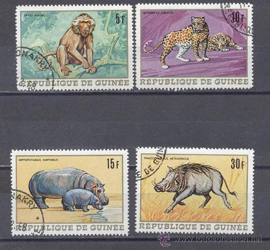 FAUNA DE GUINEA- PRECANCELADOS (Sellos - Temáticas - Fauna)