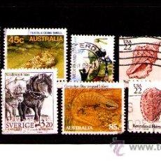 Timbres: LOTE SELLOS -TEMATICA FAUNA / AVES / ANIMALES (AHORRA COMPRANDO MAS SELLO. Lote 22444042