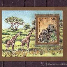 Sellos: BENIN HB 29C*** - AÑO 1995 - FAUNA - ANIMALES SALVAJES - MONOS . Lote 22582842