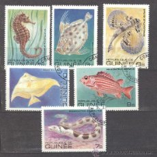 Sellos: - REPUBLICA DE GUINEA- TEMA PECES. Lote 24410813