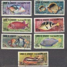 Sellos: UMM AL QIWAIN (EMIRATOS ARABES)- TEMA PECES. Lote 24410941