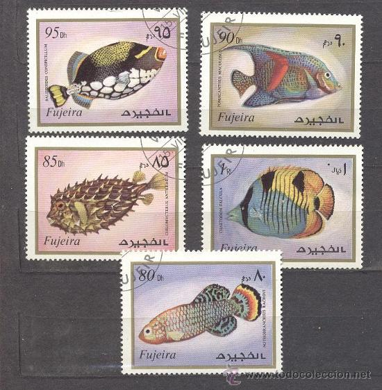 FUJEIRA (EMIRATOS ARABES)- TEMA PECES (Sellos - Temáticas - Fauna)