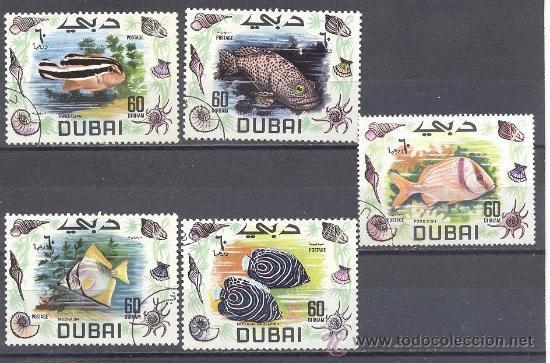 DUBAI- TEMA PECES (Sellos - Temáticas - Fauna)