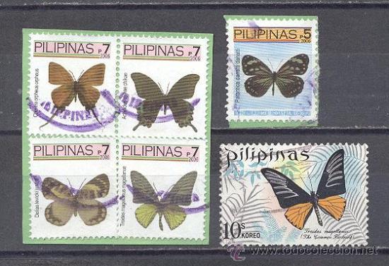 FILIPINAS, MARIPOSAS,USADOS (Sellos - Temáticas - Fauna)
